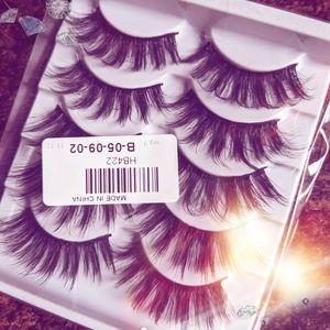 10 false eyelashes full glam thick mink